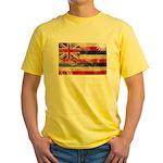Hawaii Flag Yellow T-Shirt