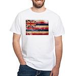 Hawaii Flag White T-Shirt