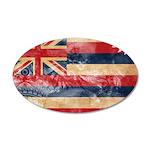 Hawaii Flag 22x14 Oval Wall Peel
