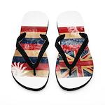 Hawaii Flag Flip Flops