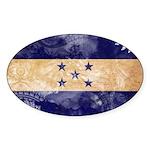 Honduras Flag Sticker (Oval 50 pk)