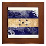 Honduras Flag Framed Tile