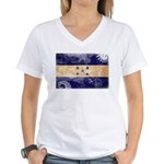 Honduras Flag Women's V-Neck T-Shirt