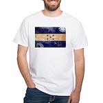 Honduras Flag White T-Shirt