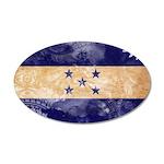 Honduras Flag 38.5 x 24.5 Oval Wall Peel