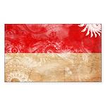 Indonesia Flag Sticker (Rectangle 50 pk)