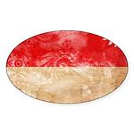 Indonesia Flag Sticker (Oval)