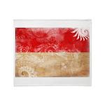 Indonesia Flag Throw Blanket
