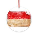 Indonesia Flag Ornament (Round)