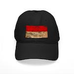 Indonesia Flag Black Cap