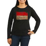 Indonesia Flag Women's Long Sleeve Dark T-Shirt
