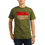 Indonesia Flag Organic Men's T-Shirt (dark)