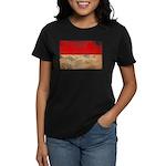 Indonesia Flag Women's Dark T-Shirt