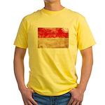 Indonesia Flag Yellow T-Shirt