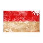 Indonesia Flag 38.5 x 24.5 Wall Peel