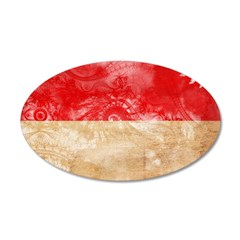 Indonesia Flag 38.5 x 24.5 Oval Wall Peel