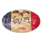 Iowa Flag Sticker (Oval 50 pk)