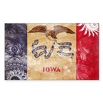 Iowa Flag Sticker (Rectangle)