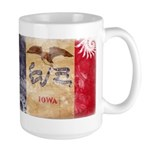 Iowa Flag Large Mug