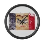 Iowa Flag Large Wall Clock