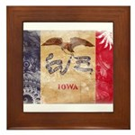 Iowa Flag Framed Tile