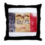 Iowa Flag Throw Pillow