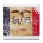 Iowa Flag Tile Coaster