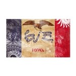 Iowa Flag 38.5 x 24.5 Wall Peel