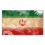 Iran Flag Sticker (Rectangle 10 pk)