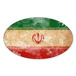 Iran Flag Sticker (Oval)