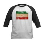Iran Flag Kids Baseball Jersey