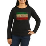 Iran Flag Women's Long Sleeve Dark T-Shirt