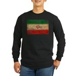 Iran Flag Long Sleeve Dark T-Shirt
