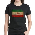 Iran Flag Women's Dark T-Shirt