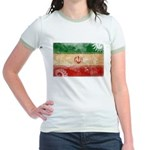 Iran Flag Jr. Ringer T-Shirt