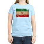 Iran Flag Women's Light T-Shirt