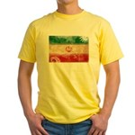 Iran Flag Yellow T-Shirt