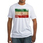 Iran Flag Fitted T-Shirt
