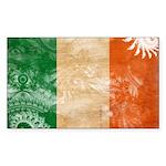 Ireland Flag Sticker (Rectangle 10 pk)