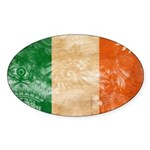 Ireland Flag Sticker (Oval 10 pk)