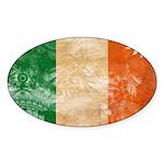 Ireland Flag Sticker (Oval 10 pk)