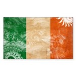 Ireland Flag Sticker (Rectangle)