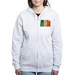 Ireland Flag Women's Zip Hoodie