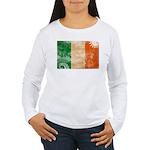 Ireland Flag Women's Long Sleeve T-Shirt
