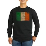 Ireland Flag Long Sleeve Dark T-Shirt