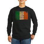 Ireland Flag Long Sleeve Dark T-Shirt