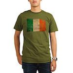 Ireland Flag Organic Men's T-Shirt (dark)