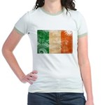 Ireland Flag Jr. Ringer T-Shirt