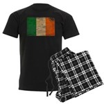 Ireland Flag Men's Dark Pajamas
