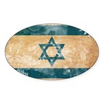 Israel Flag Sticker (Oval 10 pk)